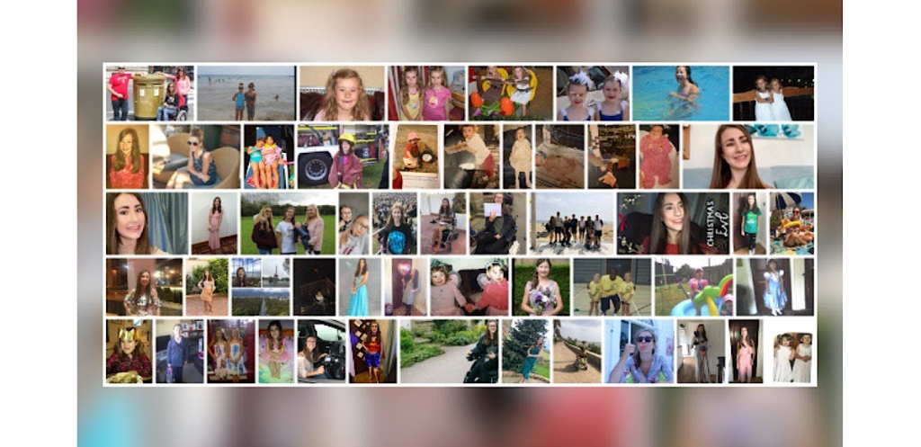 A photo collage of me and my family from being born to 2020, there is a lot of holidays, concerts, birthdays.